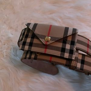 Burberry Belt with Card Case (Belt Bag)